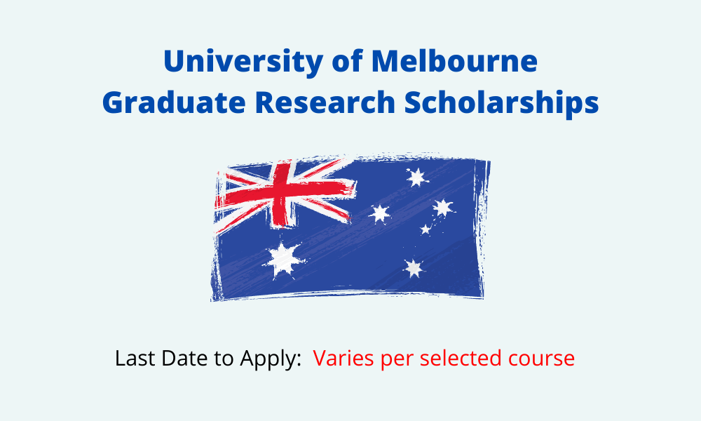 University of Melbourne Graduate Research Scholarships 2021 – 2022 | Fully Funded Scholarships in Australia